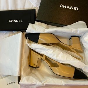 Chanel sling backs 100% AUTHENTIC